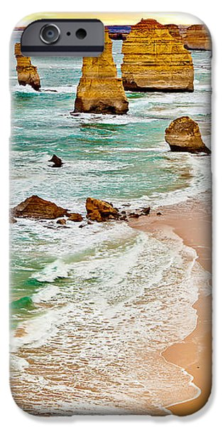 Panoramic Ocean iPhone Cases - Broken Relics iPhone Case by Az Jackson