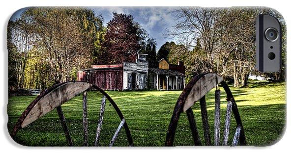 Village iPhone Cases - Broken Wheel Ranch iPhone Case by Deborah Klubertanz
