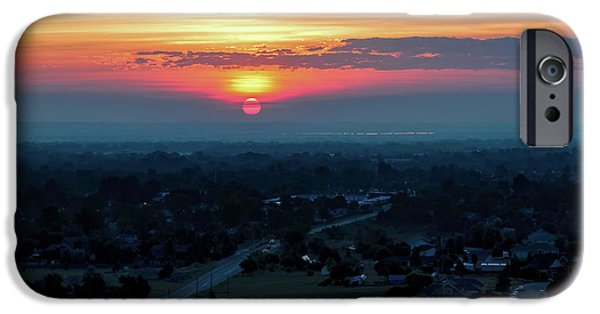 Ft Collins iPhone Cases - Bronco Sunsrise iPhone Case by Jon Burch Photography