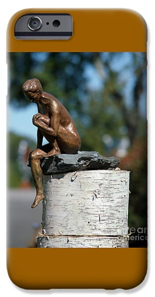 Model iPhone Cases - Bronze Female Statue iPhone Case by Joan Kaplan