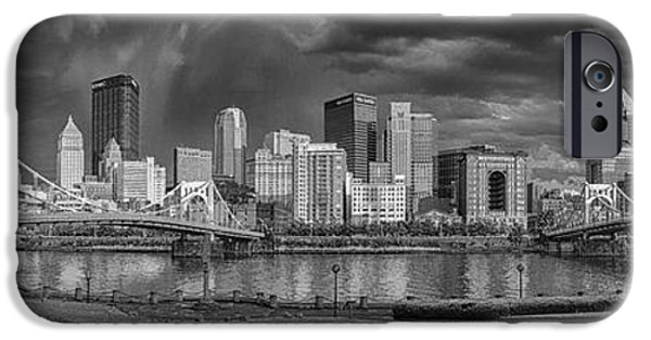Roberto iPhone Cases - Brooding Above the Burgh iPhone Case by Jennifer Grover