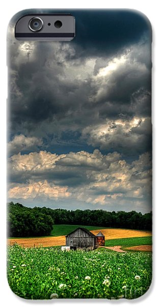 Brooding Sky iPhone Case by Lois Bryan