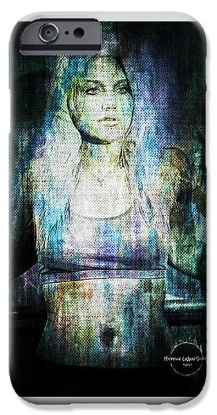 Crops iPhone Cases - Brooke Hogan - The Workout iPhone Case by Absinthe Art By Michelle LeAnn Scott