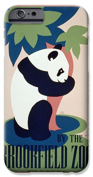 Unknown iPhone Cases - Brookfield Zoo Panda iPhone Case by Unknown