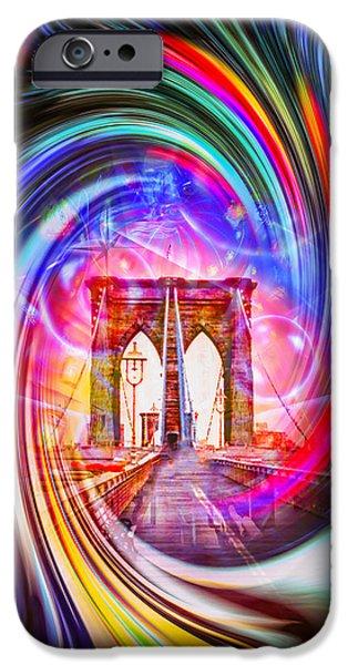 Bay Bridge iPhone Cases - Brooklyn Bridge iPhone Case by Walter Zettl