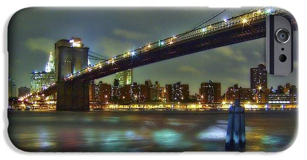 City iPhone Cases - Brooklyn Bridge iPhone Case by Evelina Kremsdorf