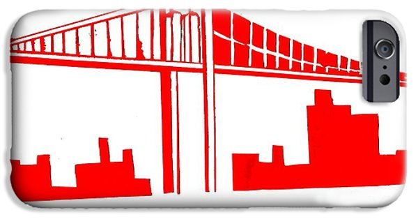 City Scape Mixed Media iPhone Cases - Brooklyn Bridge iPhone Case by Mike Grubb