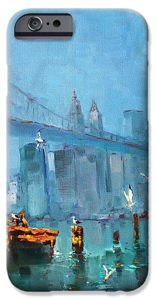 Brooklyn Bridge iPhone Case by Ylli Haruni