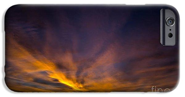 Ruin iPhone Cases - Brooklyn Sunrise Cloudscape iPhone Case by James Aiken