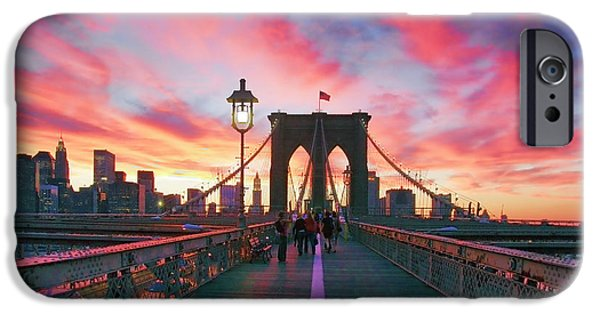 New York City iPhone Cases - Brooklyn Sunset iPhone Case by Rick Berk