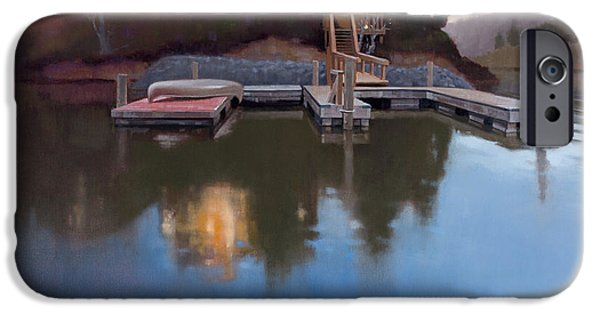 Canoe iPhone Cases - Brookview iPhone Case by Todd Baxter