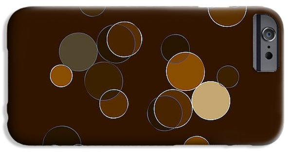 Abstract Forms Mixed Media iPhone Cases - Brown Abstract iPhone Case by Frank Tschakert