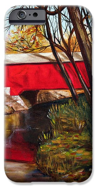 Brown County Bridge iPhone Case by Dorothy Riley