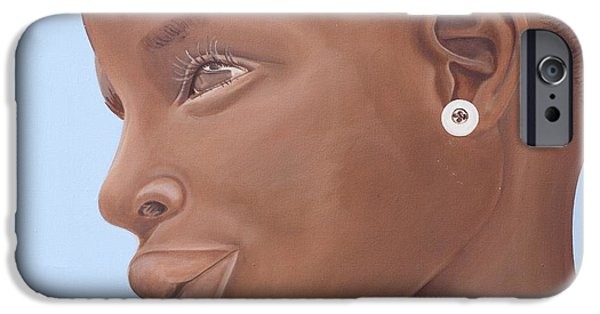 Daydream iPhone Cases - Brown Introspection iPhone Case by Kaaria Mucherera