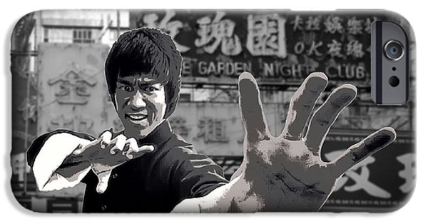 Fury iPhone Cases - Bruce Lee Founder Of Jeet Kune Do iPhone Case by Daniel Hagerman