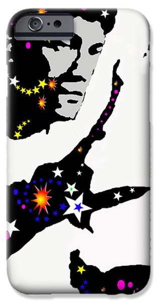 Recently Sold -  - Abstract Digital Drawings iPhone Cases - Bruce Lee Moving His Hands iPhone Case by Robert Margetts