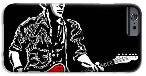 Bruce Springsteen Paintings iPhone Cases - Bruce Springsteen iPhone Case by Dave Gafford