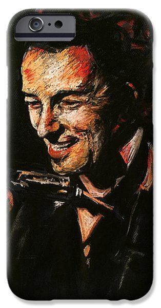 E Street Band iPhone Cases - Bruce Springsteen iPhone Case by Melissa O