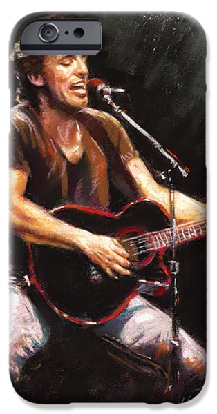 Bruce iPhone Cases - Bruce Springsteen  iPhone Case by Ylli Haruni