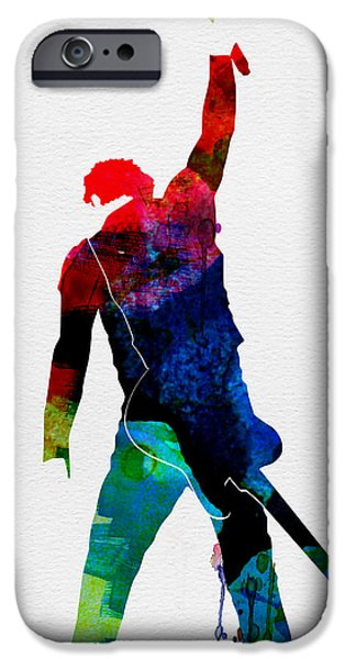 Gig iPhone Cases - Bruce Watercolor iPhone Case by Naxart Studio