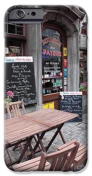 Brussels - Restaurant Chez Patrick iPhone Case by Carol Groenen