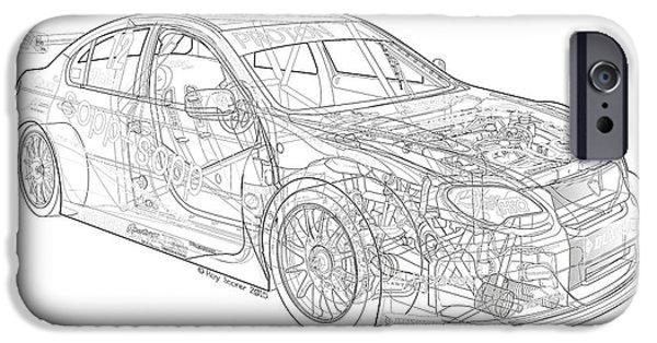 Swindon iPhone Cases - BTCC Welch Motorsport Proton Gen 2 2013 iPhone Case by Roy Scorer