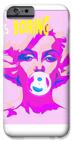 Celebrities Art Drawings iPhone Cases - Bubble Gum iPhone Case by Francois Domain