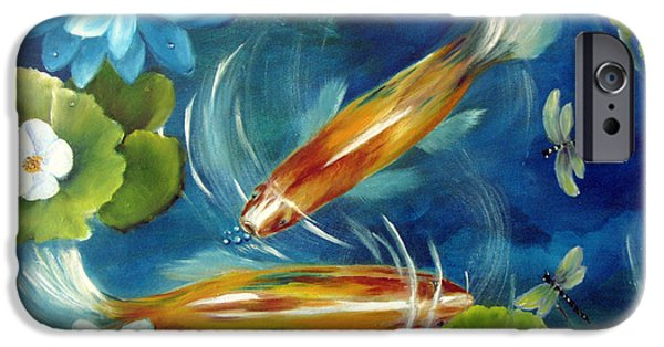 Waterscape Paintings iPhone Cases - Bubble Maker iPhone Case by Carol Sweetwood