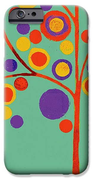 Geometric Shape iPhone Cases - Bubble Tree - 290l - Pop 01 iPhone Case by Variance Collections