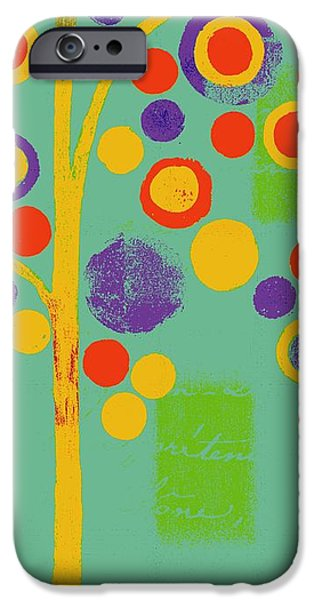 Hotel-room iPhone Cases - Bubble Tree - 290r - Pop 01 iPhone Case by Variance Collections