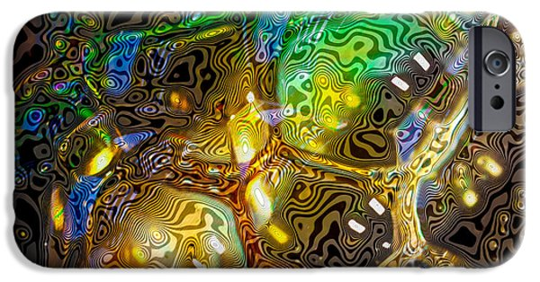 Abstractions iPhone Cases - Bubbles Abstract II iPhone Case by David Patterson