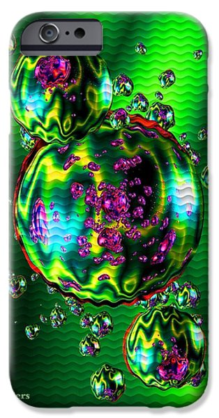 Business Digital Art iPhone Cases - Bubbliana Catus 2 no. 11 V a iPhone Case by Gert J Rheeders