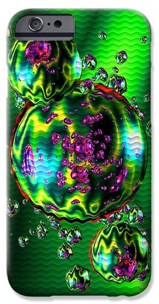 Business Digital Art iPhone Cases - Bubbliana Catus 2 no. 11 V b iPhone Case by Gert J Rheeders
