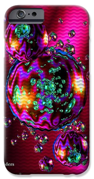 Concept Pastels iPhone Cases - Bubbliana Catus 2 no. 8 V a iPhone Case by Gert J Rheeders