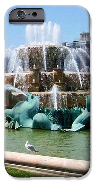 Buckingham Fountain iPhone Case by Anita Burgermeister