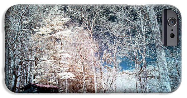 Bucks County iPhone Cases - Bucks County Woods Infrared iPhone Case by John Rizzuto