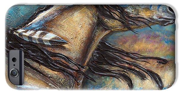 Paso Fino Stallion iPhone Cases - Buckskin Bell Blues iPhone Case by Jonelle T McCoy