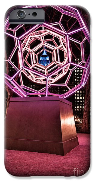 Empire State iPhone Cases - bucky ball Madison square park iPhone Case by John Farnan