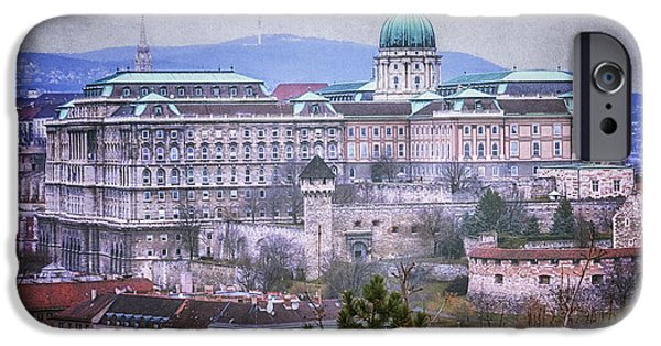 Built Structure iPhone Cases - Buda Castle from Gellert Hill iPhone Case by Joan Carroll