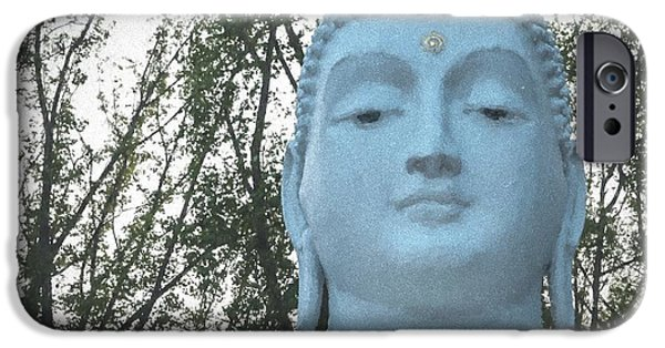 Statue Portrait iPhone Cases - Buddha Nature iPhone Case by Terry DeLuco
