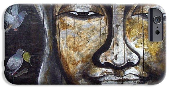 Buddhism iPhone Cases - Buddha - Shakyamuni  iPhone Case by Aarti Bartake
