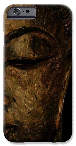 Statue Portrait Sculptures iPhone Cases - Buddha Statue iPhone Case by Ali Abdallah