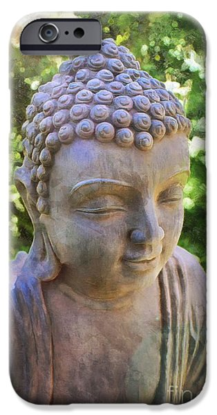 Buddhism iPhone Cases - Buddha the Enlightened Teacher 2015 iPhone Case by Kathryn Strick