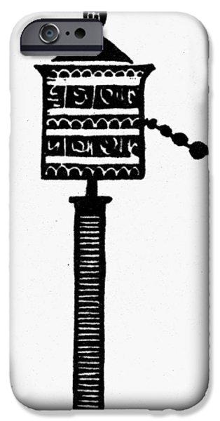 Tibetan Buddhism iPhone Cases - Buddhism: Prayer Wheel iPhone Case by Granger