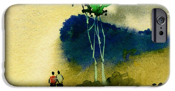 Pathway Mixed Media iPhone Cases - Buddies iPhone Case by Anil Nene