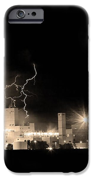 Budweiser Lightning Thunderstorm Moving Out BW Sepia iPhone Case by James BO  Insogna