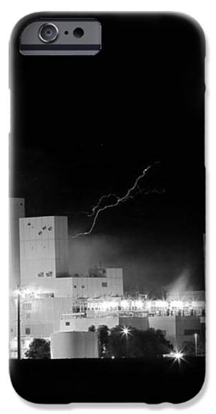 Budwesier Brewery Lightning Thunderstorm Image 3918  BW iPhone Case by James BO  Insogna