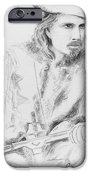 Thinking Pastels iPhone Cases - Buffalo Bill iPhone Case by Barbara Chase