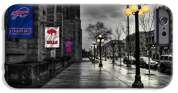 iPhone Cases - Buffalo Bills Flags iPhone Case by Joe Hamilton