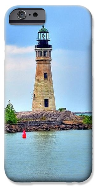 Buffalo Lighthouse iPhone Case by Kathleen Struckle